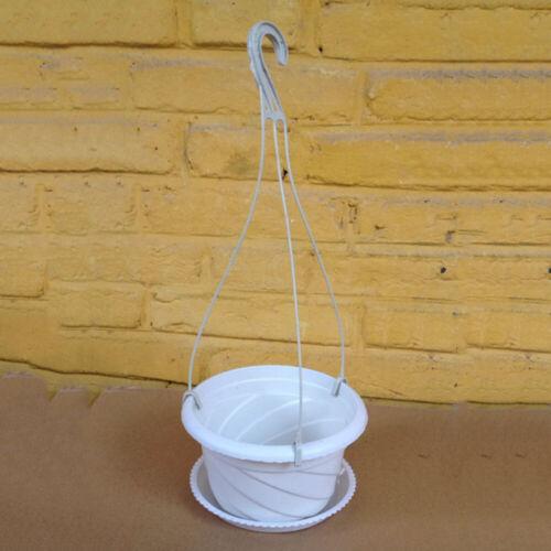 5pcs Plastic Flower Pot Chain Plant Basket Planter Holder Hanging Balcony Decor