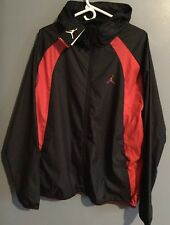 a8fd5cf00413cd Air Jordan Nike Windbreaker Black Red Jacket Wings 897884 015 Men Size XL  Hoodie