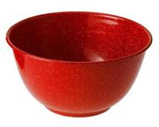 """GSI Outdoor Red Enamelware 6"""" Cereal Soup Serving Mixing Bowl Camping Scouts"""