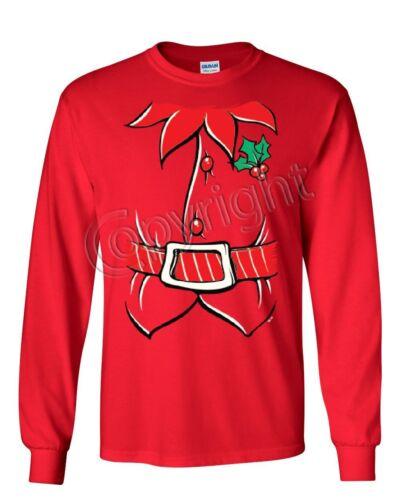Elf Shirt Women/'s Long Sleeve Tee Funny Christmas Xmas New Year