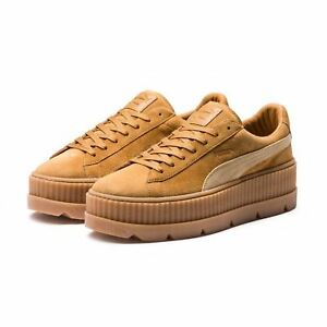 Puma x Fenty Cleated Creeper   366268 02 Rihanna Brown Tan Gum Suede ... 6774c8ad25