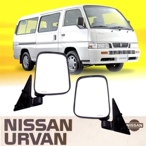 Left Right LH RH Black Side View Door Mirror Pair Fit For Nissan Urvan E24 86-01