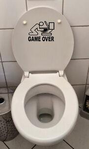 Klo-Deckel-Sticker-Toiletten-Aufkleber-Fun-wand-tattoo-WC-Bad-Game-over-Decal