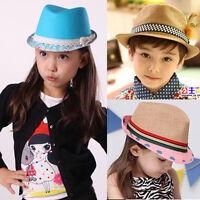 Baby Girl/Boy Toddler Kid Cap Fedora Hat Jazz Cap Photography Canvas Trilby Top