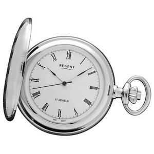 Regent Ladies, Men's Pocket Watches Chrome-Plated Hand Wound Mechanical URP018