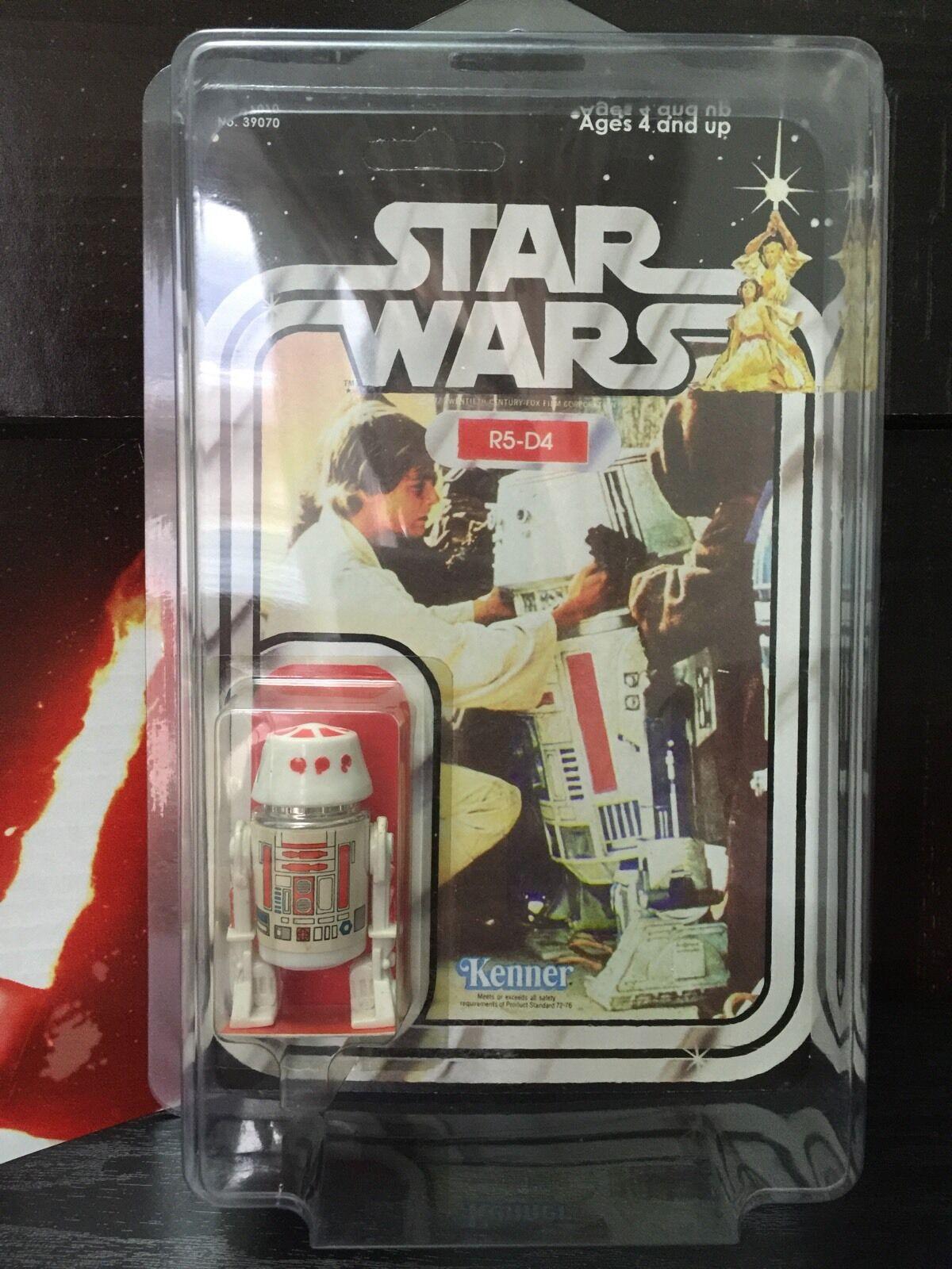 compra limitada Estrella Wars Vintage Original Original Original R5-D4 Droid Figura 1978-reCocheded con Estrella Case  clásico atemporal