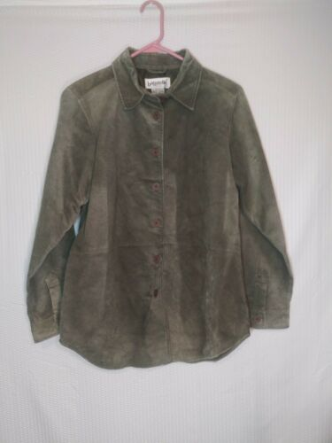 Vintage Bagatelle Sued Leather Moss Green Jacket S
