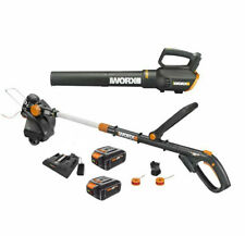 WORX WG930.3 20V GT 4.0 Revolution Trimmer & Turbine Blower+ Dual Port charger