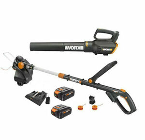 WORX-WG930-3-20V-GT-4-0-Revolution-Trimmer-amp-Turbine-Blower-Dual-Port-charger