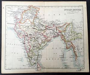 1880-Bartholomew-Antique-Map-of-India-Sri-Lanka-amp-Burma
