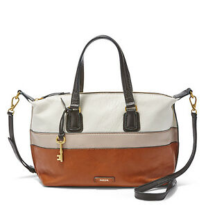 Image Is Loading Fossil Women 039 S Julia Satchel Leather Bag
