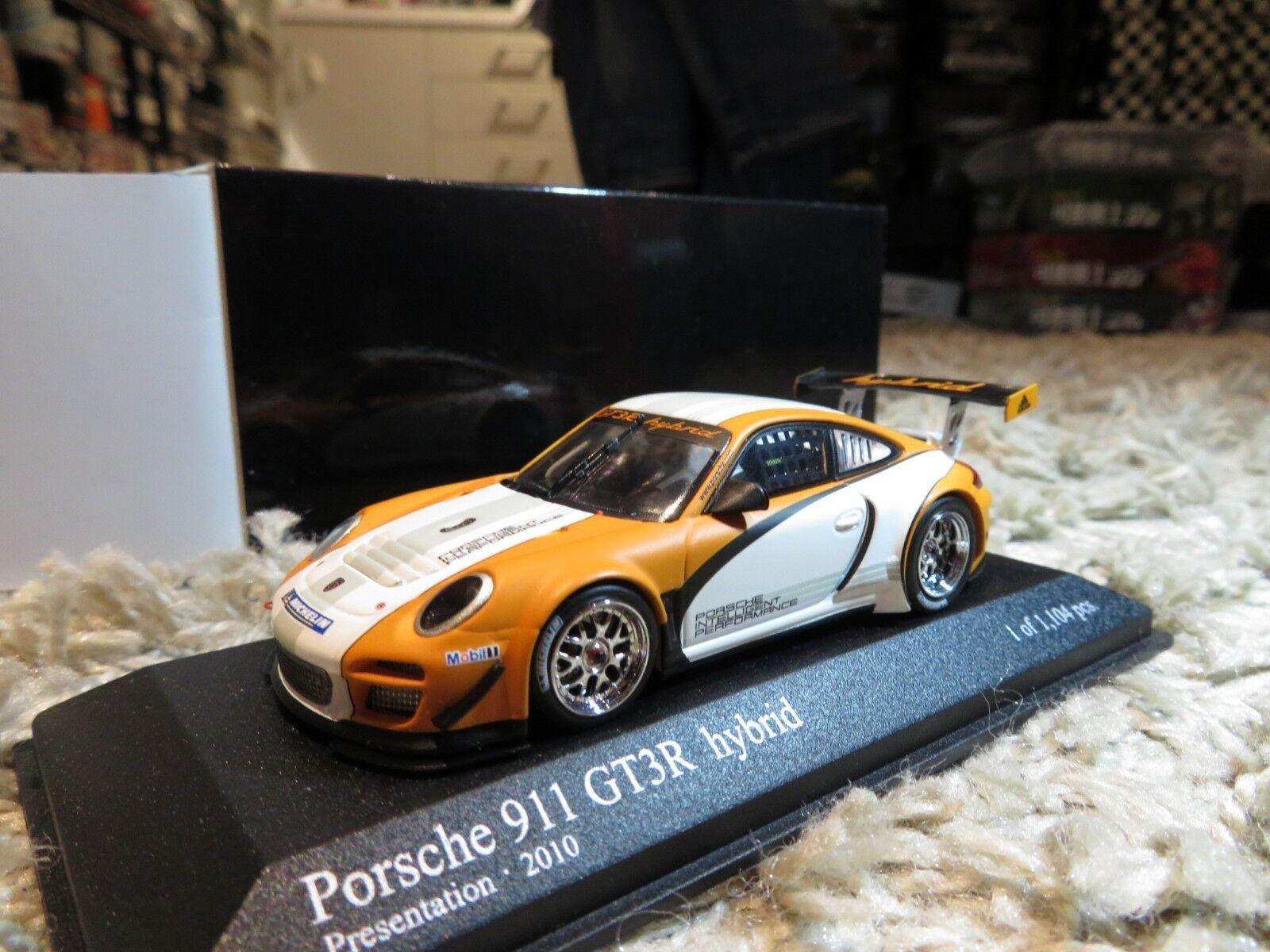 1/43 Minichamps PORSCHE 911 presentación híbrida GT3R (2018) Diecast