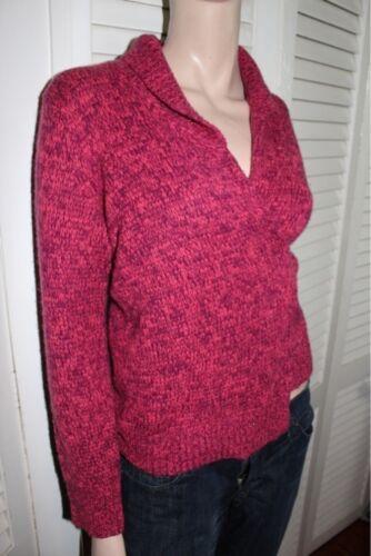 Cashmere Rebecca Taylor Pink Dark 100 Wrap M Sweater Medium vwHqpEw