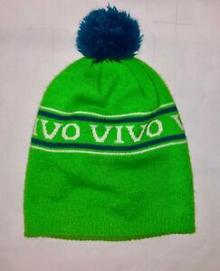 Vintage-NEON-SKI-BEANIE-Snow-Cap-Hat-Winter-Retro-USA-80s-90s-Spandex-Fleece