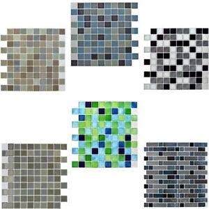 Self-Adhesive Mosaic Tile Sticker Bathroom Kitchen Transfers ...