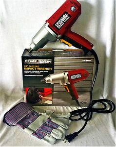 """CHICAGO ELECTRIC 1/2"""" DRIVE HEAVY DUTY ELECTRIC IMPACT WRENCH WITH WORK GLOVES"""