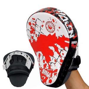Boxing-Mitt-Training-Punch-Pad-Kick-Hand-Target-Glove-Focus-MMA-Muay-Thai-Train