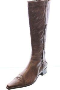 Amica-Stiefel-braun-Leder-Variobuendchen-Vintage-Style-Gr-41-UK-7