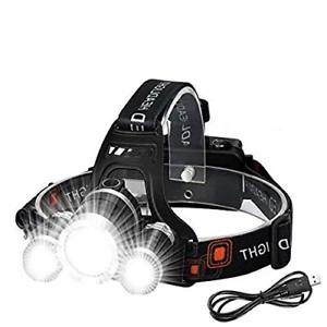 6000 lm Super Victoper wesho rechargeable phare avec 3 lumières 4 Modes