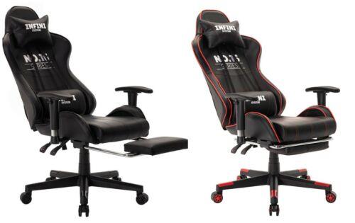 Gaming Stuhl INFINI Bürostuhl Schalensitz Schreibtischstuhl Drehstuhl Sportsitz