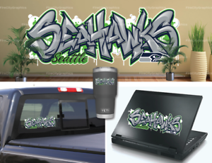 Seattle-Seahawks-Graffiti-Vinyl-Vehicle-Car-Laptop-Wall-Sticker-Decal