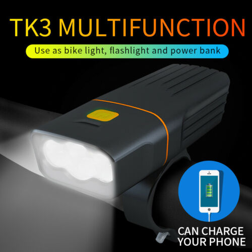 Bicycle Headlight Road Bike LED Front Lamp Laser Rear Taillight USB Rechargeable