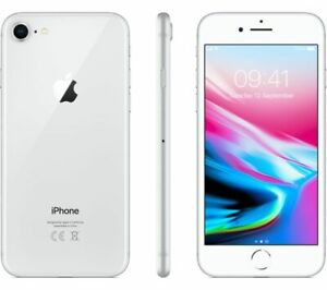 NEW SILVER VERIZON GSM UNLOCKED 64GB APPLE IPHONE 8 SMART PHONE JD76