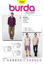 BURDA SEWING PATTERN MENS Three shirt designs for an individual look 34-44 7525