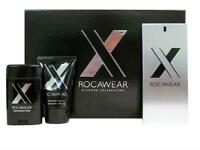 Rocawear X By Rocawear For Men 3pc Set 3.4 Oz Edt Spray + 2.6 Deo Stick + 3.4 Sg