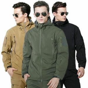 Hot-ESDY-Shark-Skin-Soft-Shell-Men-039-s-Outdoors-Military-Tactical-Coat-Jacket