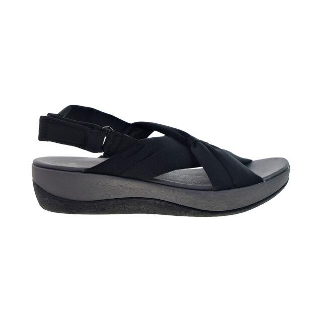 Cloudsteppers by Clarks Jersey Sport Sandals Arla Belle Black Comfort Shoe Sz 7m