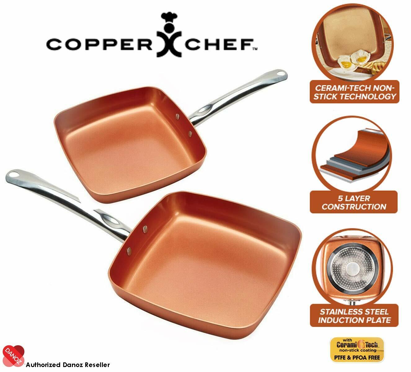 Danoz Copper Chef 9.5  Square Pan + Warranty  Authentic
