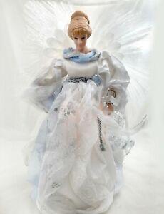 Fiber Optic Angel Christmas Tree Topper Blue & White Color ...