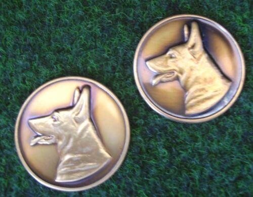 12 Messing Embleme Schäferhund Emblem Hundesport Medaillen Pokale Pokal Malino