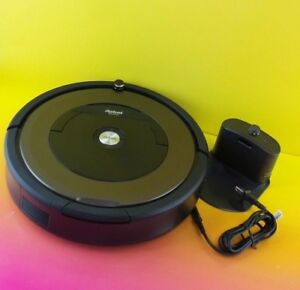 iRobot-Roomba-890-Gray-Black-Robotic-Cleaner-with-charger-No-box-890ru