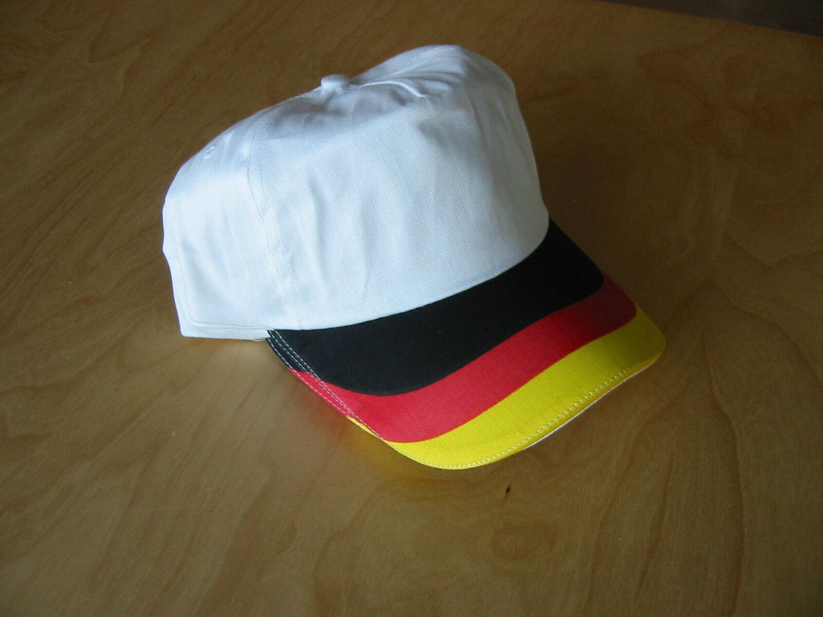 3x Deutschland Flagge Cap Mütze Kappy Hat NEU Baseballcap Germany Cappy
