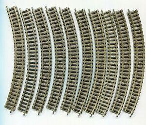 20 X Fleischmann 9120 Curved Track R1 N Gauge (f224)