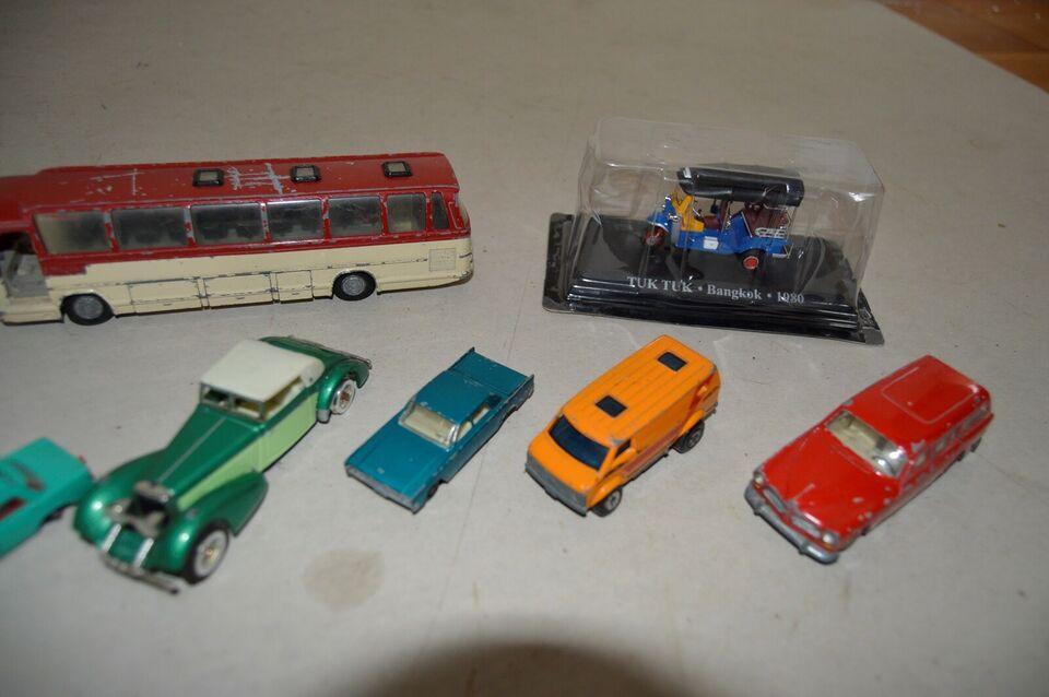 Samling af modelbiler, Tekno, Matchbox og Welly