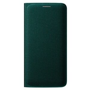 8c1f4a3437 Official Samsung Galaxy S6 Edge Flip Wallet Case Cover Dark Green EF ...