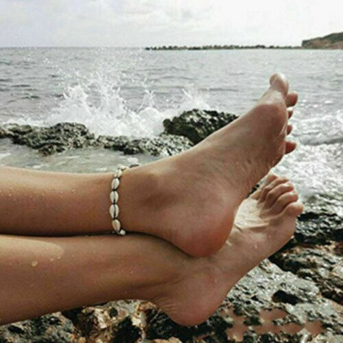 Bohemian Natural CowrieBead Shell Anklet Bracelet Handmade Beach Foot Jewelry Sy