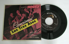 "LOS TRES ASES Canciones MKE-132 Rare RCA Victor Mexico 7"" EP w Picture Sleeve"