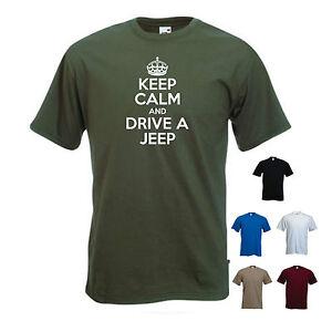 1b98f57b Keep Calm and Drive a Jeep' Cherokee Wrangler Compass Funny T-shirt ...