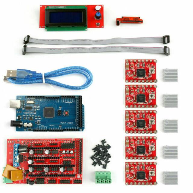 3D Printer Kit RAMPS 1.4+Mega2560+A4988+2004 LCD Controller For  Reprap CA