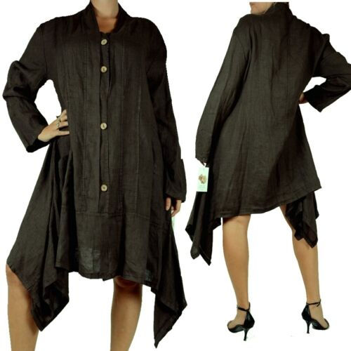 Beach Zipfel Xl lino 48 Xxl 46 donna Giacca in estivo Lagenlook da 44 Holiday YFZxO
