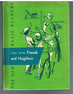 New-Friends-amp-Neighbors-Dick-amp-Jane-Grade-2-1-1956-Rare-Antique-Books