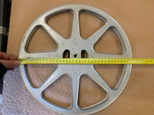große Vintage Metalspule für Tonband 355mm Retro als Deko Artikel