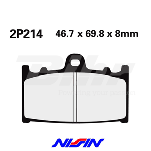 NISSIN-2P214NS-PAIRES-TAMPONS-AVANT-KAWASAKI-VN-CLASSIC-2000-2008-2010