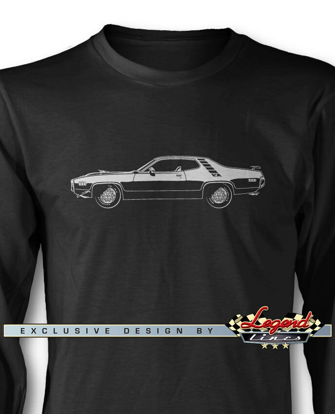1971 Plymouth Road Runner Coupe Long Sleeves T-Shirt - Multiple colors and Sizes