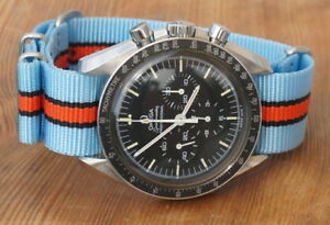 Begeistert Nato Strap Uhrenarmband 20 Mm Hellblau - Orange Gestreift 7890