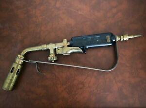 Old blowtorch sievert original type d2 brass made in sweden